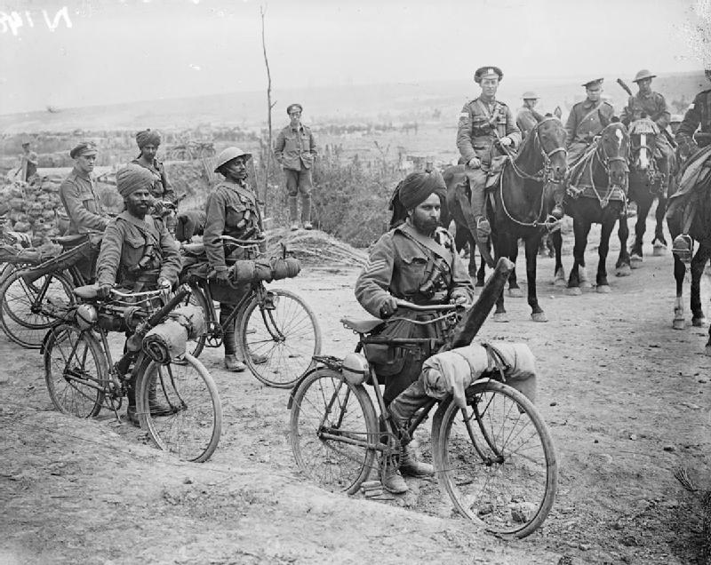 Indian_bicycle_troops_Somme_1916_IWM_Q_3983